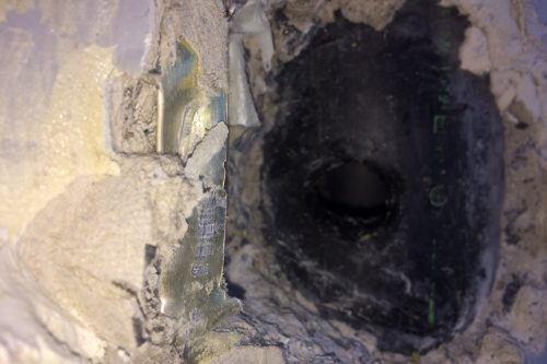 Damaged Pipe - Before